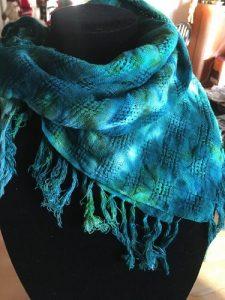 Blue cotton scarf